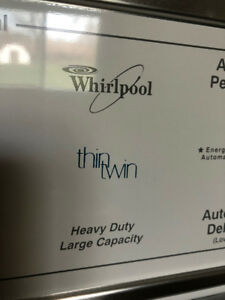 Whirlpool Thin Twin Heavy Duty Large Capacity Washer & Dryer