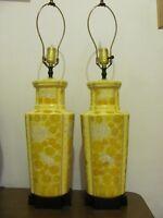 2 lampes antiques peintes à la main