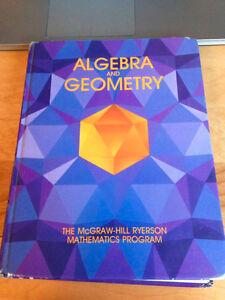 Algebra and Geometry (McGraw-Hill Ryerson) by James Stewart