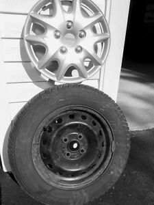 175/70/R14 Tires on Rims with Hub Caps