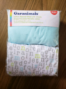 2 Pack Flannel Cotton Fitted Crib Sheets