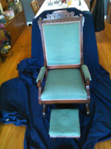 rocker chair and foot stool