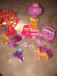 My Little Pony castle and toys