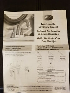 Two Handle Bathroom Faucet - New
