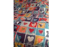 ❤️💙💛King size ❤reversible print duvet cover & cases cotton mix