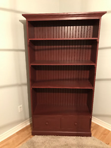 Pine Bookcase/Drawer Combo - all wood construction