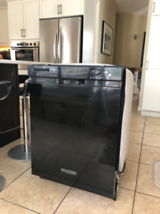 Kitchen Aid Dishwasher, black, as is