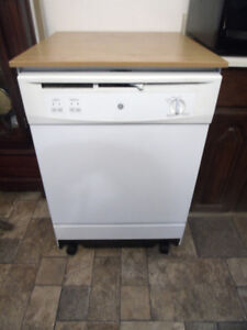 samsung stainless steel dishwasher & GE portable dishwasher
