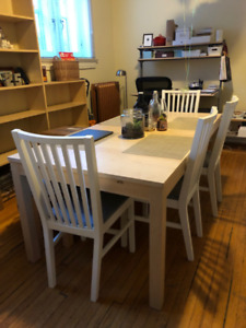 DINING ROOM TABLE + CHAIRS