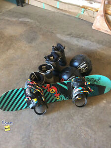 Burton Chopper snowboard with bindings and boots