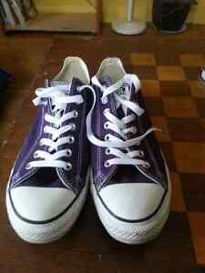 Purple converse mens 10.5