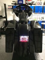 Harley Road Glide Stretched Rear End