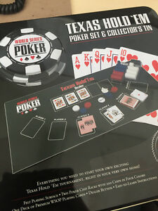 WSOP Texas Hold 'Em Poker Set & Collector's Tin
