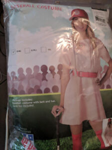 NEW Halloween Costume Adult Size Small. A League of Their Own.