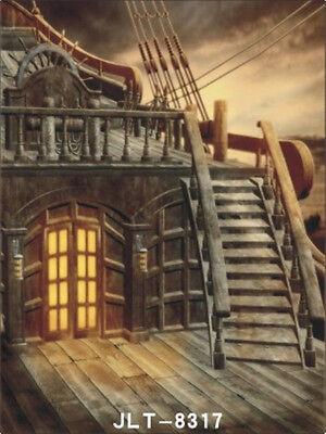 Pirate Ship Vinyl Studio Backdrop Photography Prop Photo Background 3X5FT