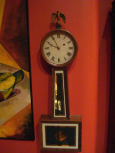 Banjo Clock- WEIGHT DRIVEN- Warranty Included