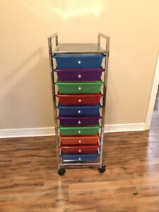 Colourful Drawer Organizer Unit with Wheels