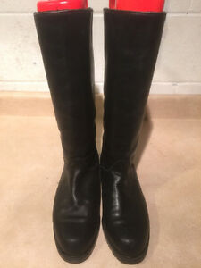 "Women's ""College"" Tall Leather Winter Boots Size 8 London Ontario image 2"