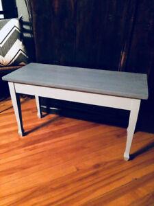 Banc avec rangement (Ancien banc de piano)