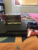 PS3,controllers, and games
