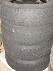 Goodyear UltraGrip Winter Tires on Steel Rims 225/65R17