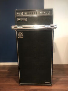 """Ampeg SVT Classic Bass Head and 6x10"""" Cabinet with case"""