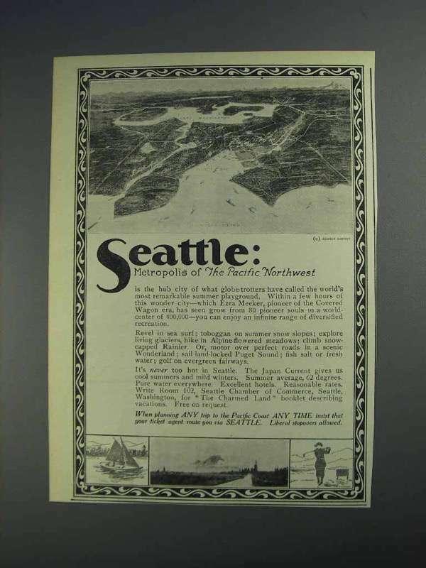 1925 Seattle Washington Ad - Metropolis of Northwest