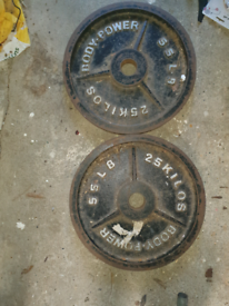Pair 25kg olympic plates