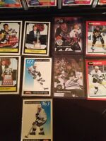 A lot of wayne Gretzky and Mario Lemieux cards
