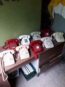 OLD DIAL PHONES :  ASKING  $50.  OBO.