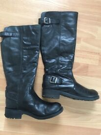 Fat Face black knee high boot size 5