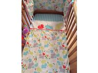 Cot bedding,curtains,lampshade and cotmobile