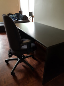MOVING SALE ($200 off retail) - Black desk w free chair, more