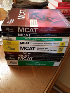 Used MCAT The Princeton Review set of books