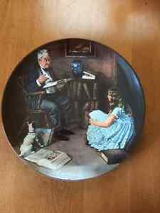"Norman Rockwell ""The Storyteller ""Collectable Plate"