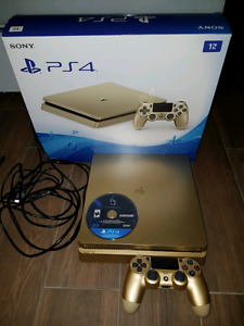 Limited Edition Gold PS4 1TB console with game
