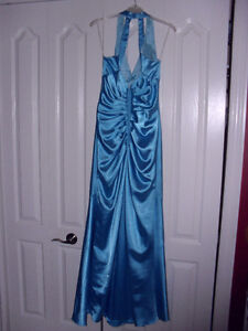 sapphire blue prom/grad gown
