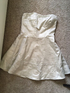NEW Express silver/white dress