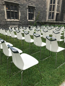 Outdoor White Event Chairs
