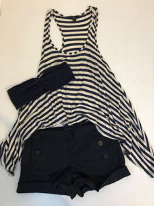 SUMMER Nautical Outfit Set - ARITZIA, AMERICAN APPAREL, F21