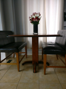 Ashley Home Store wooden dinette and bench seating