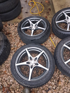 """17"""" msr racing rims and tires"""
