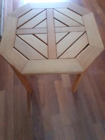 Small hexagonal coffee table