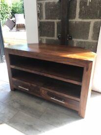 Acacia wood tv cabinet