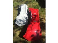 Vauxhall Corsa ltd rear bumper and lip spoilers choice of colour and model genuine