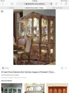 Wanted  China cabinet or cabinet