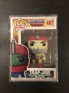 TRAP JAW funko pop MASTERS OF THE UNIVERSE with protector