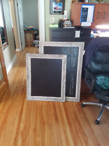 Beautiful Chalkboards with wood frames for sale