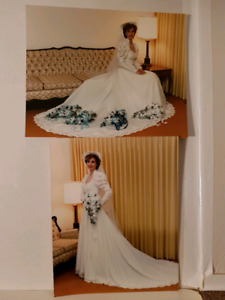 Wedding Dress, approx sz 6, & Hat w/Veil