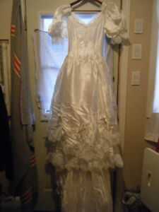 Wedding dress and hat in box